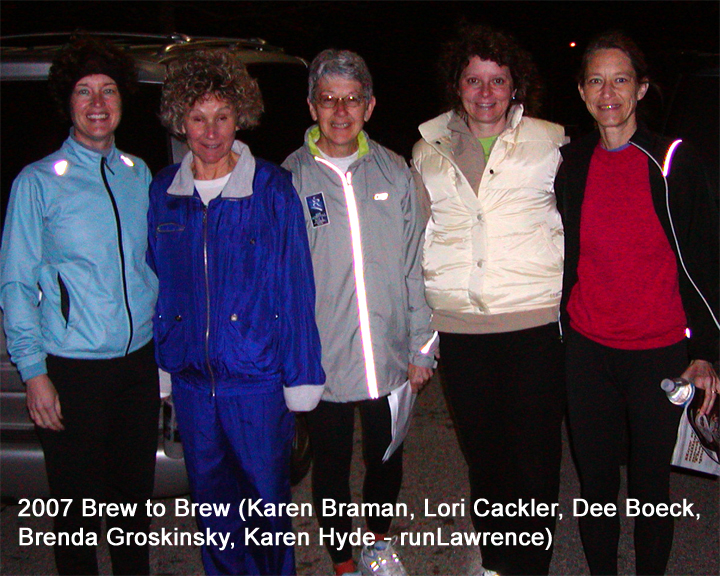 photo of the 2007 runLawrence Brew to Brew team