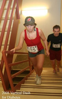 Photo of two runners on the stairs at the Vertical Dash.
