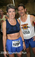 Photo of Marla and Brad RHoden at the Groundhog Run.