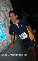Photoof Eladio Valdez at the Groundhog Run.