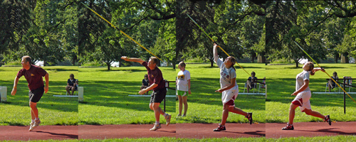 Photo of the javelin throws at the 2009 Sunflower Games.