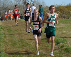 Photo from the 6A Regional Cross COuntry Races at Haskell on Sat, Oct 24th.