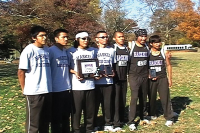 Phoito of 2009 Haskell men's cross country team.