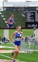 Rebekah Stowe on KU's winning women's distance medley team.