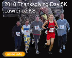 Link to the runLawrence Thanksgiving Day 5K entry form.