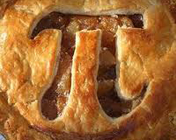 A Pi Pie Crust for the Pi Day Run.