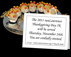 Invitation to the runLawrence Thanksgiving Day 5K and link to web page.