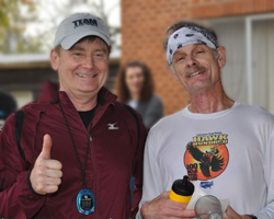 Photo of Ben Holmes and Gary Henry at the Lake Perry Rocks trail races on Oct 22nd.