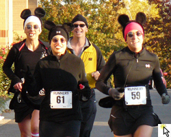 Photo of the mice runners at the October 29th WOW Run.