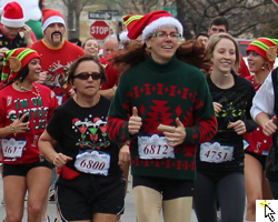 The Ugly Sweater Run in Lawrence, KS.