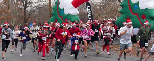 Photo from the Ugly Sweater Run.