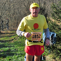 Photo of Dick Lipsey at the Nov 17, 012 JFK 50 Mile Trail Run.