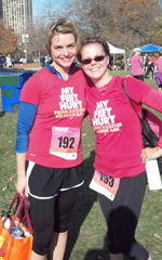Photo of LaRisa Chambers-Lochner and julie Loats at the Chicago Title IX 9K.