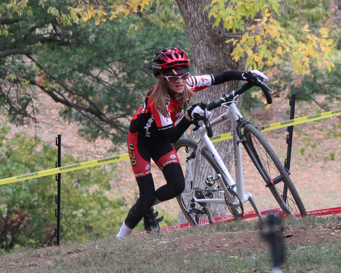 In cyclocross, you get off the bike and run.