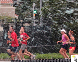 Did it rain at the Plaza 10K? Click to see the Flickr slideshow to find out.