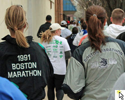Photo from the Run for Boston 5K Run/Walk in LAwrence on April 16.