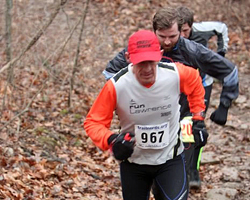 Photo of Keith Dowell at the January 27, 2013 Psychopathic 5K Trail Run.