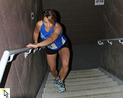 Slideshow of the 2013 Italian Stallion Stair Climb at the Oread Hotel on January 20, 2013.