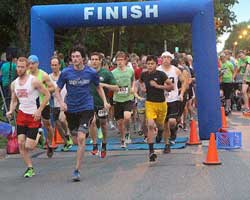 Start of the May 27 Home Run 5K in Lawrence, Kansas.