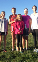 Photo of the Youth RUnning Project Middle School Cross COutnry runners at the October 12 Shawnee Mission West Meet.
