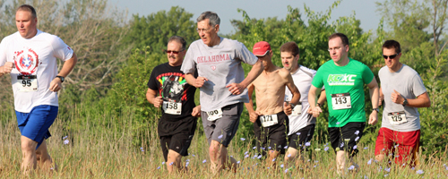 Photo from the KC Cross Country Challenge t Shawnee Mission Park, August 2, 2014.
