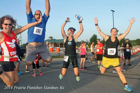 Photo of LaRisa Chambers-Lochner, Brian Lochner, Tesa Green and Kristina Selters at the Prairie Punisher Du.