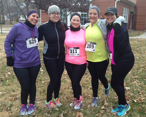 Photo of the 8 week training program runners with the Thanskgiving Day 5K as there target run.