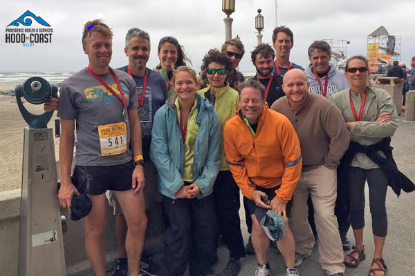 Photo of Brenda Groskinsky's team at the 2015 Hood to Coast Relay.