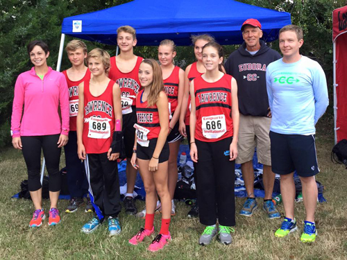Photo of the runLawrence Middle School Cross Country team at the September 12th Emporia Invitational.
