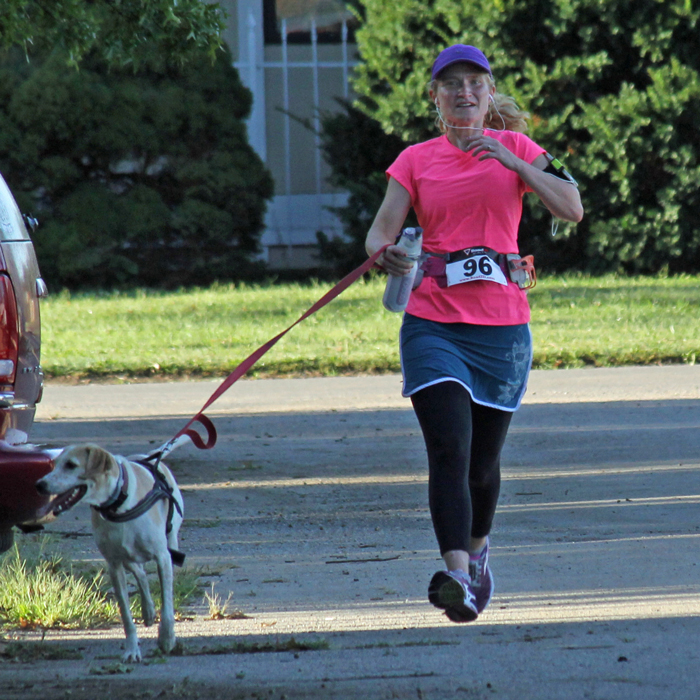 Photo of Kathy Shobe, winner of the Perry After Prom 5K.