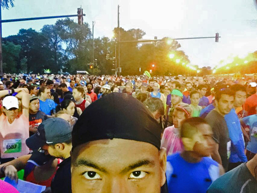 Phot of Jason Holbert at the September 27th Chicago Half Marathon.