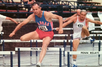 Photo of Jack Greenwood at the 1980 Penn Relays.