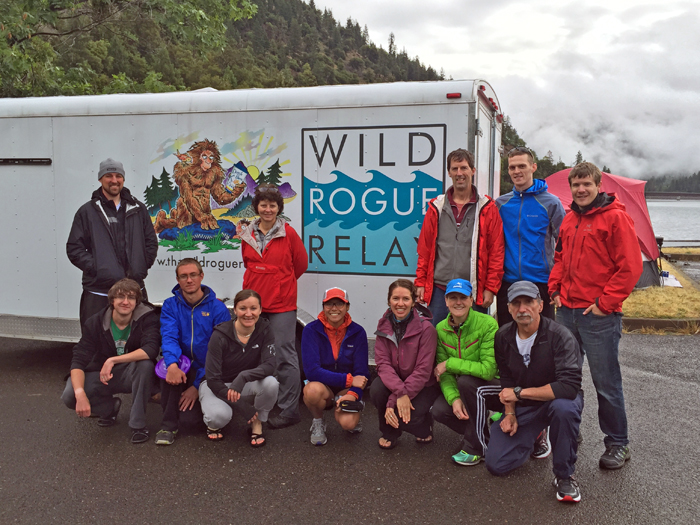 Photo of Brenda Groskinsky and her Wild Rogue Relay team.