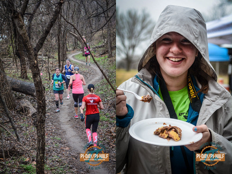Link to Mile 90 Photography  gallery of photos from the Pi-Day Pi Half Trail Run.