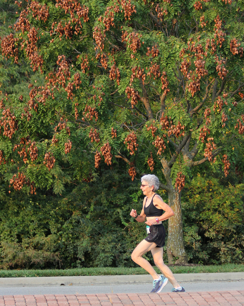 Photo of Dee Boeck at the Leawood Labor Day 5K.