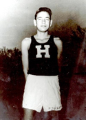 Photo of a young Billy Mills, Haskell runner.